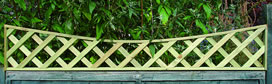 Concave Lattice Fence Topper